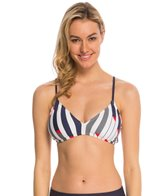 Nautica Swimwear Sails Up Tie Back Sports Bralette Top
