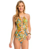 Volcom Faded Flowers One Piece Swimsuit
