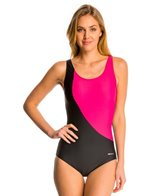 Sporti Conservative Colorblock One Piece Swimsuit