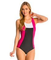 Sporti Moderate Colorblock One Piece Swimsuit