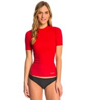 Sporti Women's Solid S/S UPF 50+ Sport Fit Rash Guard