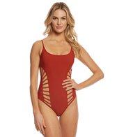 1349cbb23870 Michael Kors Cherry Summer Flower Ruffle High Leg One Piece Swimsuit ...