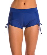 Champion Women's Adjustable Side Shirred Boyshort Bikini Bottom
