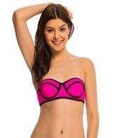 Hobie Tie Dye For Solid Underwire Bandeau Bikini Top