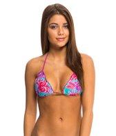 Sofia Del Mar Ripple Triangle Bikini Top