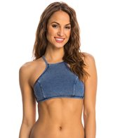 Seafolly Deja Blue High Neck Tank Bikini Top