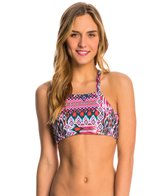 Quintsoul Swimwear Margarita Macrame High Neck Crop Bikini Top