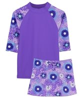 Tuga Girls' UPF 50+ Ocean Breeze Tropical Breeze 3 Piece Rash Guard Set (2yrs-14yrs)
