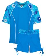 Tuga Ocean Breeze Surfer Girl 2 Piece Rash Guard Set (4yrs-14yrs)