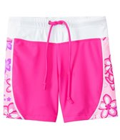 Tuga Girls' UPF 50+ Plumeria Passion Boardshort (2yrs-14yrs)