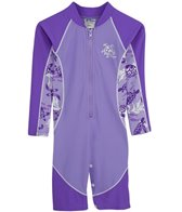 Tuga Girls' UPF 50+ Turtle Paradise High Tide L/S One Piece Sun Suit (2yrs-6yrs)