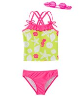 Jump N Splash Girl's Susie Seashell Two-Piece Swimsuit w/ Free Goggles (4-6X)