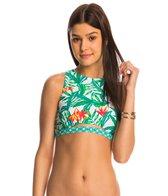 MINKPINK Swimwear Panama Palms Crop Bikini Top