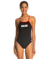 Dolfin Dolfin Lifeguard Varsity Solid Female String Back One Piece Swimsuit
