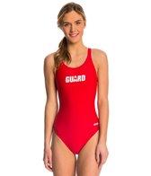 Dolfin Female Lifeguard 3 Logo HP Back One Piece Swimsuit