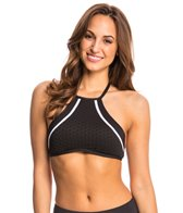 Kenneth Cole Dare to Stare High Neck Crop Bikini Top