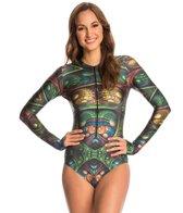 slipins-surfskin-mini-metal-scales-zipper-long-sleeve-one-piece-swimsuit