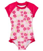 SnapMe Girls' Lucy Rosalita Ruffle S/S Rash Guard One Piece Swimsuit UVP 50+ (6mos-8yrs)