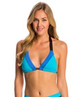 Swim Systems Block Party Blue Triangle Bikini Top