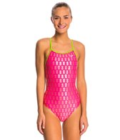 The Finals Aloha Foil Flutter Back One Piece Swimsuit