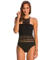 Kenneth Cole Swimwear Tough Luxe High Neck One Piece Swimsuit