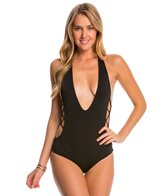 Indah Let's Get Lost Pagoda Solid Jlo Reversible One Piece Swimsuit
