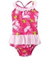 iPlay Girls' Tropical One Piece Swimsuit w/Built-in Swim Diaper (6mos-3T)