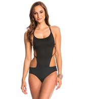 Indah Maisha Solid Matte Strappy One Piece Swimsuit
