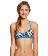Speedo Turnz Clash Time Fixed Back Bikini Swimsuit Top
