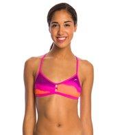 Speedo Turnz Tonal Wave Printed Fixed Back Bikini Swimsuit Top