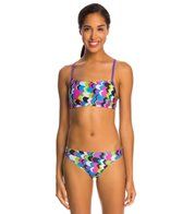 Speedo Flipturns Geo Playtime Printed Two Piece Bikini Swimsuit Set