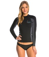 Stohlquist Women's 1MM Coreheater Zip Free Long Sleeve Neoprene Wetsuit Jacket