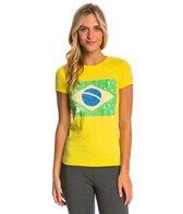 Speedo Women's Rio Flag Tee Shirt
