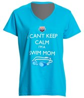 usa-swimming-womens-cant-keep-calm-v-neck-t-shirt