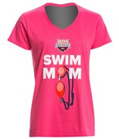 USA Swimming Women's Swim Mom V-Neck T-Shirt