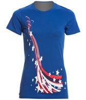 USA Swimming Women's All Stars & Stripes Crew Neck T-Shirt
