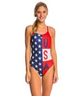 Turbo Team USA Women's Americana ProRacer Thin Strap Suit