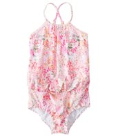 Seafolly Girls' Prairie Girl Blouson Tank One Piece Swimsuit (2T-7)
