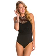 JETS by Jessika Allen Luxe High Neck One Piece Swimsuit (DD/E Cup)