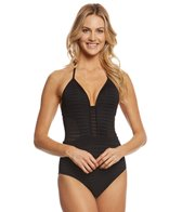 JETS by Jessika Allen Parallels Banded One Piece Swimsuit