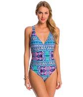 La Blanca Swimwear Global Perspective Crossback Strappy One Piece Swimsuit