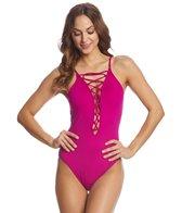 la-blanca-swimwear-island-goddess-laceup-hi-neck-one-piece-swimsuit