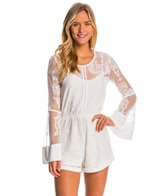 f7801bc98cb MINKPINK Falling Blooms Tie Front Romper at SwimOutlet.com - Free ...