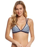 Nautica Seabrook Stripe Multi Strap Triangle Bikini Top