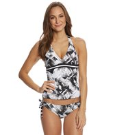 Next Women's Lush Palm Super Woman Wrap Tankini Top