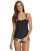 Next Women's Lush Palm Double Up Soft Cup Tankini (D-Cup)