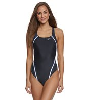 Speedo Women's PowerFLEX Eco Print Quantum Splice One Piece Swimsuit