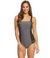 Speedo Women's Endurance+ Texture Square Neck One Piece Swimsuit