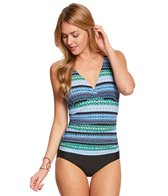 Jantzen Geo Graphic Stripe One Piece Swimsuit (C/D Cup)