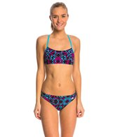 Adidas Women's Kaleidoscope Open Scoop Two Piece Swimsuit
